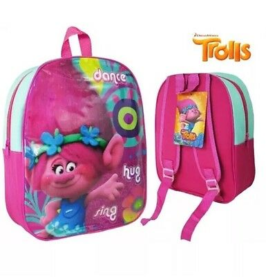 Trolls Pre-School Nursery Bag Movie Trolls Poppy Themed Kids Travel Bag Backpack
