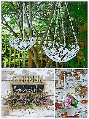 Hanging Basket Watering Can Planter Fork Metal Rustic Wood Planter Baskets Pot