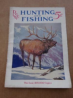December 1927 Hunting and Fishing Magazine