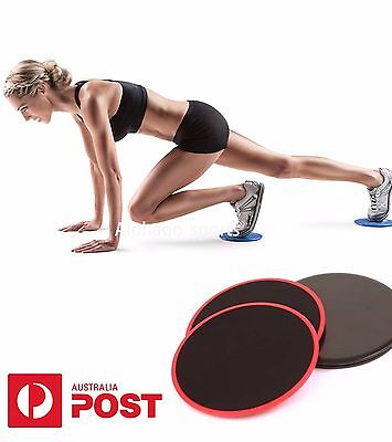 2pcs Gliding Sliding Discs  Workout Gym Fitness home exercise core sliders