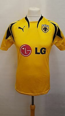 AEK Athens Greece Football Shirt Size S Small - Yellow & Black