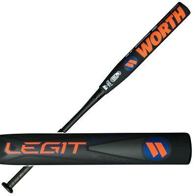"2017 Worth Fulk Legit XL USSSA WLGBJU 34""/26OZ SLOWPITCH SOFTBALL BAT, new"
