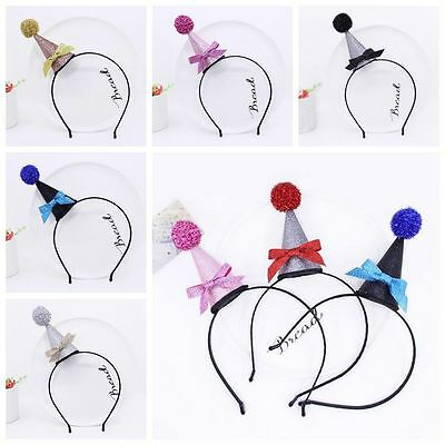 Hair Band Toddler Hat Birthday Tiara Shiny Head Hoop Baby Headband