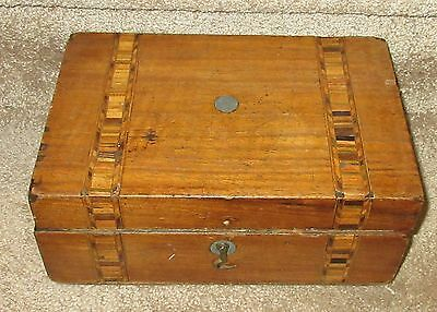 Vintage Antique Sewing Box with inlay