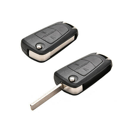 2 Button Remote Flip Key Case Fit For Vauxhall Opel Corsa Astra Vectra ZafiraB1D