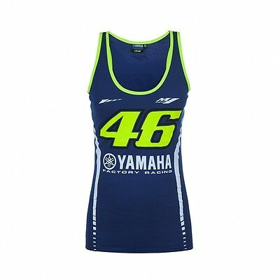 2017 OFFICIAL Moto GP VR46 Rossi Womens Ladies Yamaha Vest Tank Top – NEW