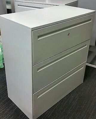5 avbl Krost FILING CABINET 3 DRAWER LATERAL  OFFICE STATIONERY TOOL STORAGE