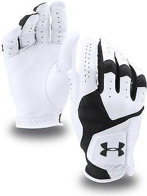 NEW 2017 Under Armour CoolSwitch Leather Golf Glove worn on the LEFT hand