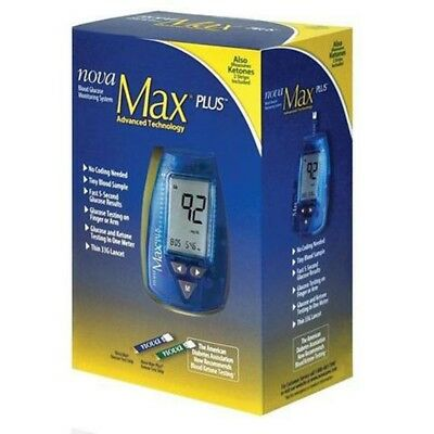 Nova Max PLUS Blood Glucose Monitoring Ketone Meter System Mobility Disability