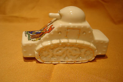 Ww1 Arcadian Crested China Armoured Car Southend On Sea Crest