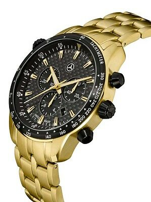 """Mercedes Benz Chronograph Herren Armband uhr """" Gold Edition """" by Swiss made ®"""