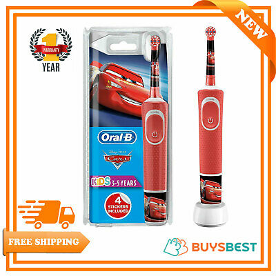 Oral-B Stages Power Kids Electric Rechargeable Toothbrush with Disney Pixar Cars