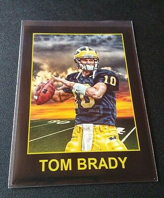 Tom Brady Rookie RC Trading Card NFL Patriots University Michigan Wolverines