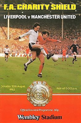 Liverpool v Manchester United - FA Charity Shield - 20 August 1983