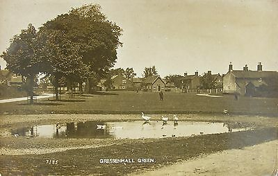 Charming Gressenhall Green Norfolk 1918 Rp Pc