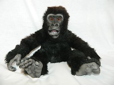 """RETIRED Axtell Amazing Apes realistic BABY GORILLA 17"""" plush Rubber Face Puppet"""