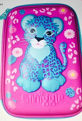 Smiggle wild leopard  hard top pencil case new with tags RARE