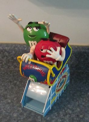 M & M Candy Dispenser Rollercoaster Green and Red M&Ms WILD THING ROLLER COASTER
