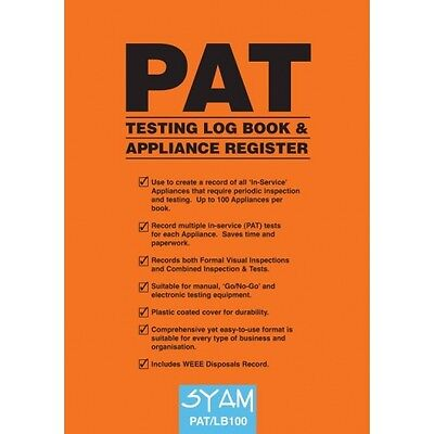 PAT Testing Log Book & Applicance Register **FREE POSTAGE**
