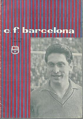 Barcelona v Birmingham City 1960 Fairs Cup Final Programme - 4th May 1960