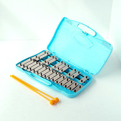 Glockenspiel 25 Note Mini Xylophone Portable Chimes Bells Instrument Set Case