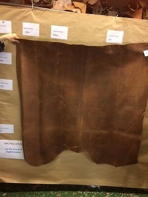 Leather Hide Skin Distressed Brown Whole Butt Splits 1.2/1.4mm Bargain!!