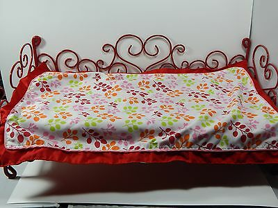 Our Generation American Girl 18 Doll Red Hearts Scroll Bed with comforter