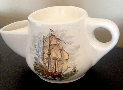 Royal Victoria Pottery Wade England Sailing Ship Shaving Mug Collectable