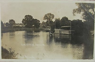 LALEHAM REACH NEAR STAINES MIDDLESEX c1905 RP PC