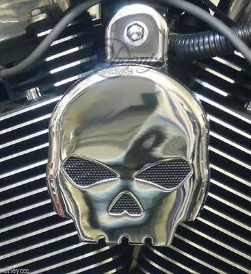 SKULL Hupen Cover Horn Cover Abdeckung Harley DYNA SOFTAIL SPORTSTER  ELECTRA