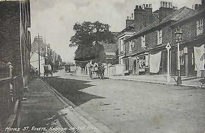 Quaint Middle Street Roxeth Harrow On The Hill Middlesex 1910 Pc