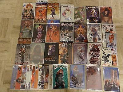 Lot of 99 comics of Joe Linsner's work / Dawn the goddess