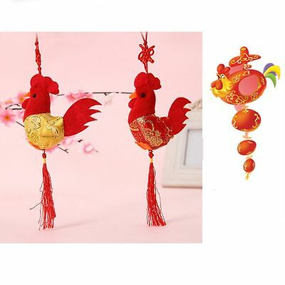 8cm China Wind Toy Plush Chicken Doll Cock Rooster