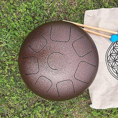 "NEW 12"" Steel Tongue Drum C Major Natural Scale,Free Chakra Music CD+bag+mallets"