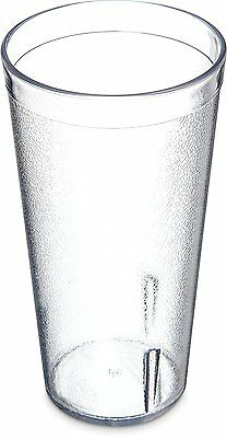 Carlisle 5220-8107 Stackable Shatter-Resistant Plastic Tumbler, 20 oz., Clear of