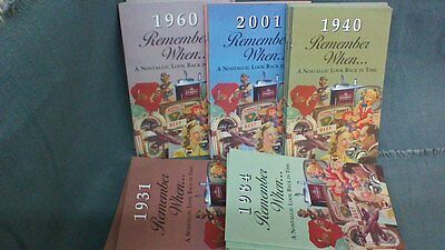 """""""Remember When""""  Nostalgic Paperback Booklet w/envelope. See availabile years."""