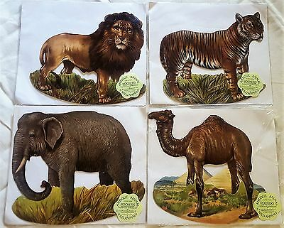 Antique Animal Rockers Cards * Series One Wild Animals * H.&P. Decorations Lot 4