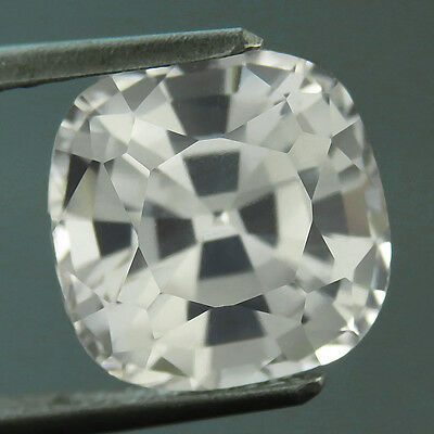 7.40 CTS 100% AAA+ MIND BLOWING ROYAL WHITE SAPPHIRE (Lab Created) blanc saphir