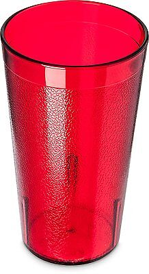 Carlisle 5212-8110 Stackable Shatter-Resistant Plastic Tumbler, 12 oz., Ruby of