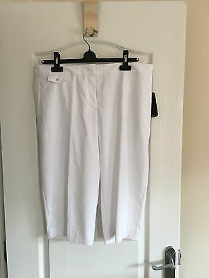 REDUCED! BNWT IZOD Golf Ladies Crop/capri trousers White UK 16