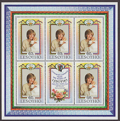 LESOTHO : 1982, Birth of Prince William (Miniature Sheet, MNH)