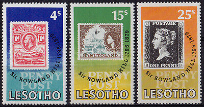 LESOTHO : 1979, Death Centenary of Sir Rowland Hill (Complete set of 3, MNH)