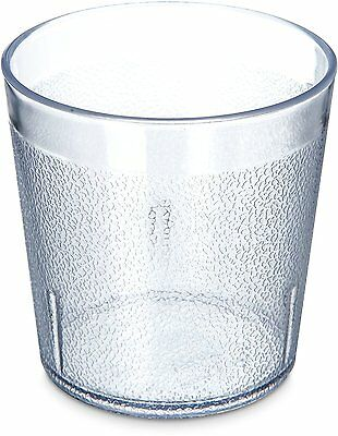 Carlisle 5529-8107 Stackable Shatter-Resistant Plastic Tumbler, 9 oz., Clear of
