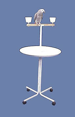 """Large 23"""" Metal Base Parrot Amazon African Grey Macaw Cockatoo Play Stand 479"""