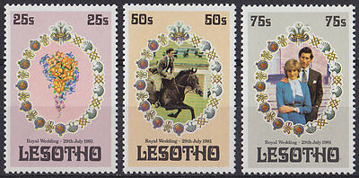 LESOTHO : 1981, Royal Wedding (1st Issue) (Complete set of 3, MNH)