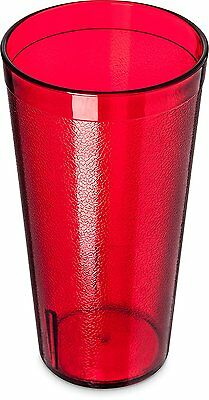 Carlisle 5220-8110 Stackable Shatter-Resistant Plastic Tumbler, 20 oz., Ruby of
