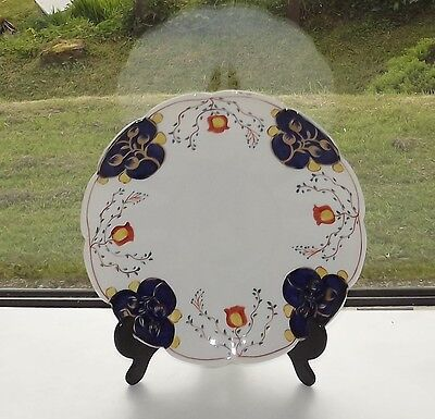 Victorian Gaudy Welsh Tulip Pattern Blairs China Cake Plate c1900