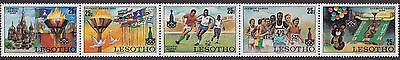LESOTHO : 1980, Olympic Games, Moscow (Complete, Strip of 5, MNH)
