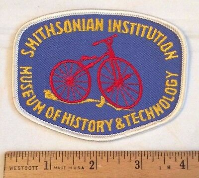 Smithsonian Museum of History & Technology Bicycle Logo Embroidered Patch