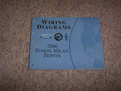 2006 Mercury Milan Electrical Wiring Diagram Manual I4 V6 2.3L 3.0L 4Cyl V6